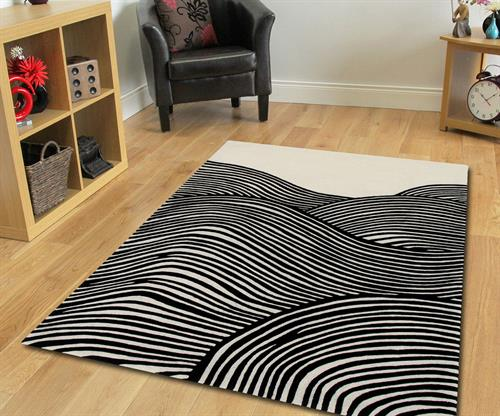 Black and white zebra rug