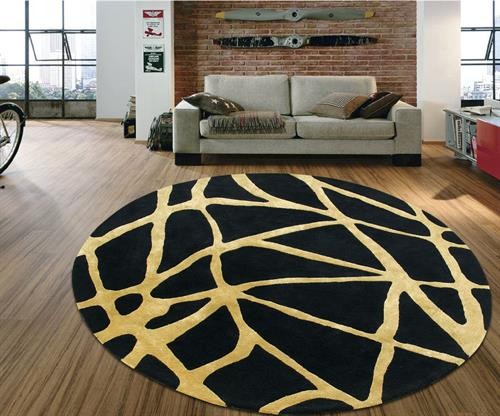 Abstract web circle rug